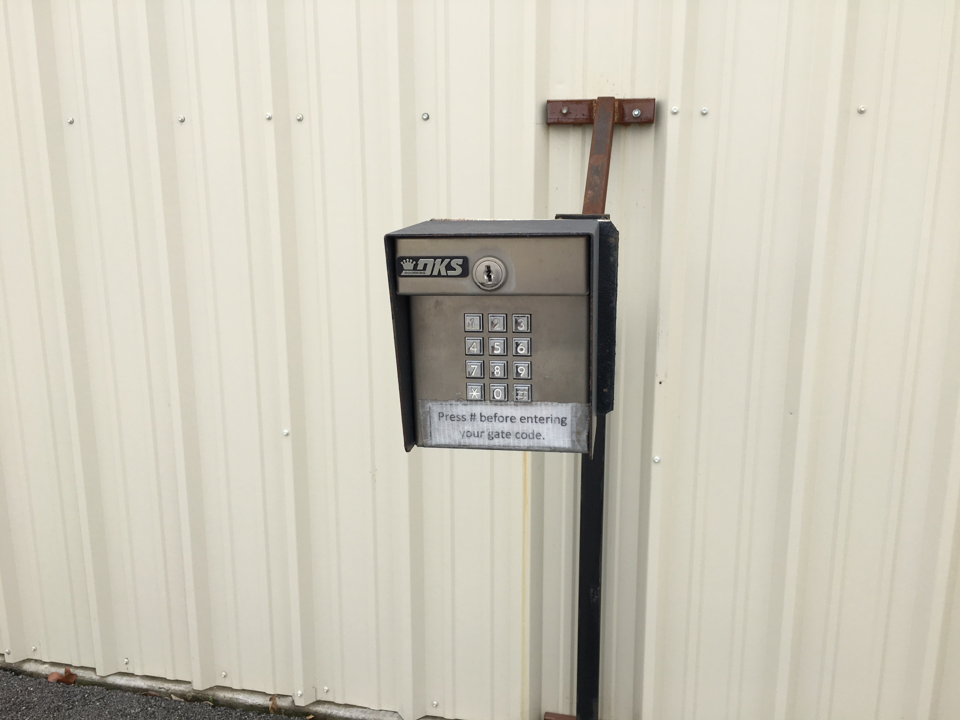 All Around Self Storage Gate Entry Keypad